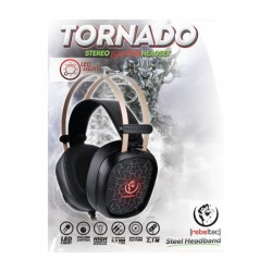 REBELTEC GAMING HEADPHONES TORNADO BLACK