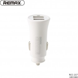 REMAX  RCC217 CAR CHARGER ROCKET 2xUSB 2,4A WHITE