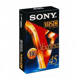 SONY VHS-C Cassette Hifi Excellence 45 Min.