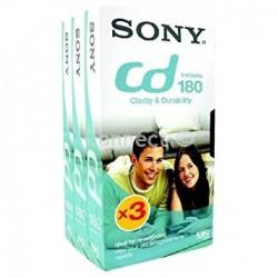Sony E180 VHS Video Cassette Tape 180min