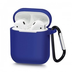 SILICONE CASE FOR AIRPODS TYPE 1 BLUE