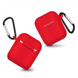 SILICONE CASE FOR AIRPODS TYPE 1 RED