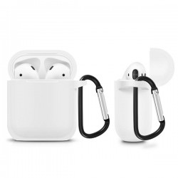 SILICONE CASE FOR AIRPODS TYPE 1 WHITE