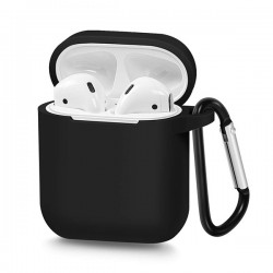 SILICONE CASE FORE AIRPODS TYPE 1 BLACK