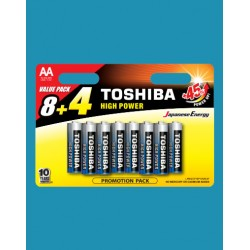 TOSHIBA HIGH POWER AA LR6GCP BP12MS4F (8+4)  (BLISTER PACK)