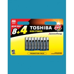 TOSHIBA HIGH POWER AAA LR3GCP BP12MS4F (8+4)  (BLISTER PACK)