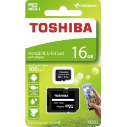 TOSHIBA MICROSD 16 GB M203 UHS-I U1 WITH ADAPTER