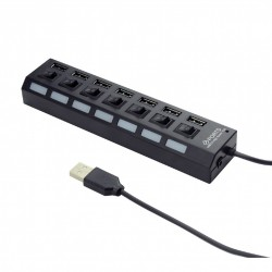 GEMBIRD USB 2.0 powered 7-port with switches