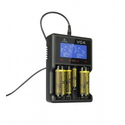 XTAR VC4 BATTERIES CHARGER FOR Li-ion AND NiMH
