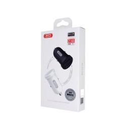 XO CC18 DUAL USB PORT CAR CHARGER WHITE