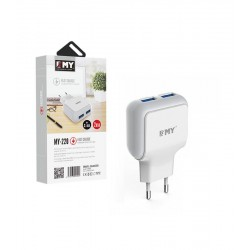 EMY MY-220 Fast Charger 5V 2.4A Universal 2xUSB + cable micro usb 1m 14444