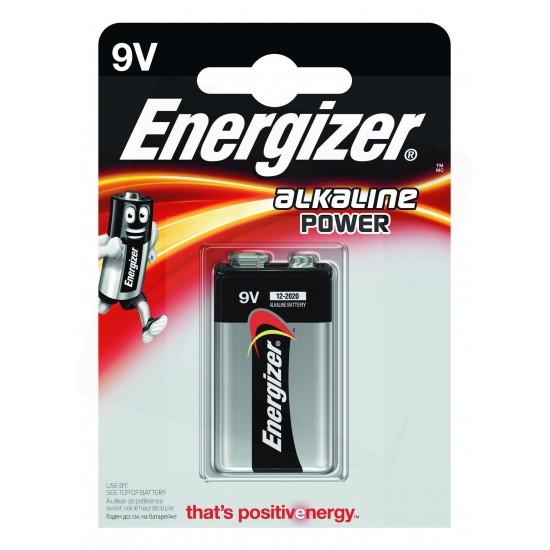 Energizer Power Alkaline 9V Battery B1