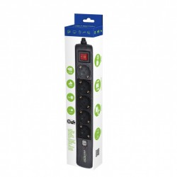 GEMBIRD - SPG5-U-5 / POWER STRIP WITH USB CHARGER 5  SOCKETS  1,5M