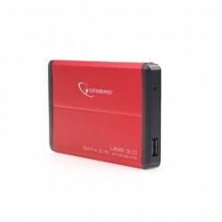 GEMBIRD EE2-U3S-2-R Κουτί σκληρού δίσκου 2.5'' , USB 3.0 , κόκκινο