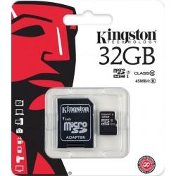 KINGSTON MICRO SD 32GB/10 WITH ADAPTOR
