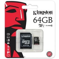 KINGSTON MICRO SD 64GB/10 WITH ADAPTOR