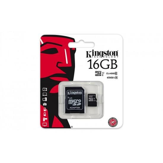 KINGSTON MICRO SD 16GB/10 WITH ADAPTOR
