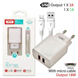 XO L67 EU 18W QC3.0+1A 2xUSB MICRO