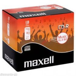 Maxell CD-R  80 Min Audio  (10 Jewel Case)