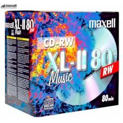Maxell CD-RW  80 Min Audio  (10 Jewel Case)