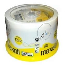 Maxell CD-R Printable Full Face (50 Tub)