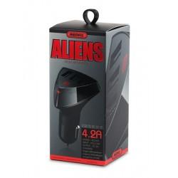 REMAX Car Charger - Alien RCC-304 3xUSB 4,2A BLACK